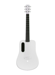 Lava Music ME 2 Freeboost Semi Acoustic Guitar, HPL Fingerboard, White