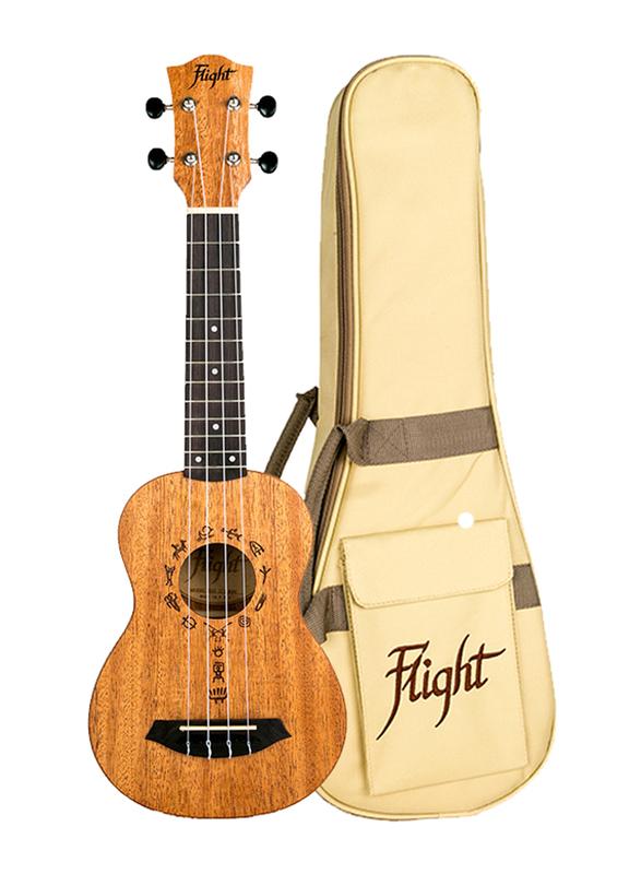 Flight DUS371MAH Soprano Ukulele, Walnut Fingerboard, Brown