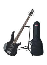Yamaha TRBX174EW Electric Bass Guitar, Rosewood Fingerboard, Translucent Black
