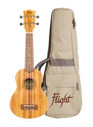 Flight DUS322ZEB Soprano Ukulele, Walnut Fingerboard, Brown