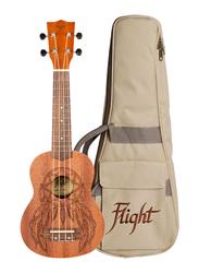 Flight NUS350DC Soprano Ukulele, Walnut Fingerboard, Brown