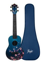 Flight TUC32 Sakura Concert Travel Ukulele, ABS Fingerboard, Blue