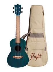 Flight DUC380TOPAZ Concert Ukulele Aquila Super Nylgut Strings, Walnut Fingerboard, Teal