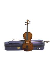 Stentor Student Standard Violin, Outfit 1 4/4, Blackened Hardwood Fingerboard, Dark Brown
