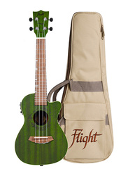 Flight DUC380CEQJADE Concert Electro Acoustic Ukulele, Walnut Fingerboard, Green