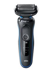 Braun Series 5 Easy Clean Electric Shaver, 50-B1000S, Blue/Black