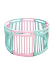 HOCC Colourful Round Plastic Fence Play Pen, Blue/Pink