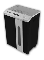 New United Micro Cut Shredder Machine, ET-15M, Black/Silver