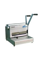 Eagle 2:1 Manual Wire Binding Machine, CW300t, Grey/Silver