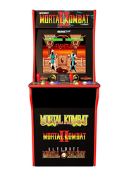 Arcade 1Up Mortal Kombat 2 Arcade Cabinet with Light-up Marquee, stool & Riser, 7651, Ages 14+