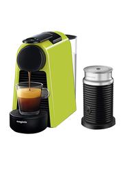 Nespresso Essenza Mini Coffee Machine with Aeroccino, Green