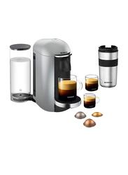 Nespresso 1.1L Vertuo Plus Coffee Machine, 1260W, GCB2, Deluxe Silver