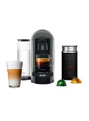 Nespresso 1.2L Breville Vertuo Plus Coffee & Espresso Machine Bundle with Aeroccino Milk Frother, 1260W, Grey/Black