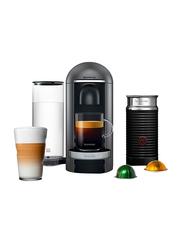 Nespresso 1.2L Breville Vertuo Plus Deluxe Coffee & Espresso Machine with Aeroccino Milk Frother, 1260W, Grey