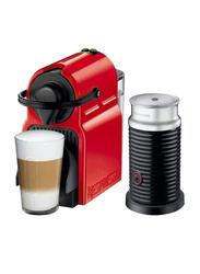 Nespresso Inissia Coffee Machine with Milk Frother, 1200W, Red