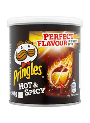 Pringles Hot & Spicy Potato Chips, 40g