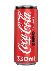 Coca Cola Zero Calories Soft Drink Can, 330ml
