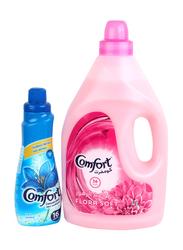 Comfort Flora Soft Fabric Softener + Comfort Deluxe Perfume, 4 Liters + 650ml