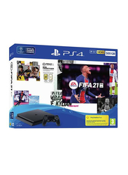 Sony PlayStation 4 Console, 500GB, with 1 Controller and FIFA 21 Game, Black