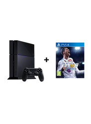 Sony PlayStation 4 Console, 500GB, with 1 Controller and FIFA 18 Game, Black