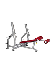 Bh Fitness Olympic Decline Bench, 210cm, Silver/Red