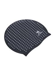 TA Sport Swimming Cap, Black/White