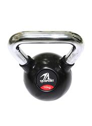 TA Sport Rubber Kettlebell, 54010265-101, 16KG, Black