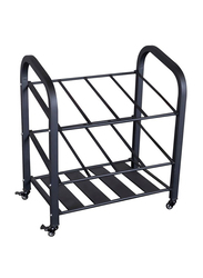 Body Solid Rolling Storage Cart, Black