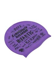 TA Sport Swimming Cap, Purple/Black