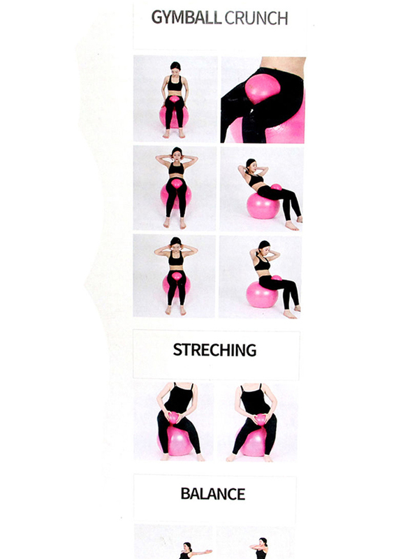 Exercise Gym Ball, 65cm, EQ24010034, Dark Pink