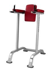 BH Fitness Stationary Handrail Abdominal Flexor Bench, Red/Silver