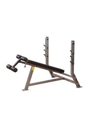 Body Solid Pro Club-Solid DecSolid Olympic Bench, Silver/Black
