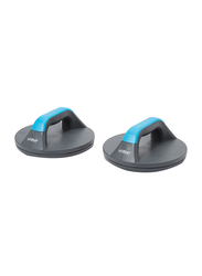 Liveup Rotating Push Up Pro Stand Set, 2 Piece, Grey/Blue