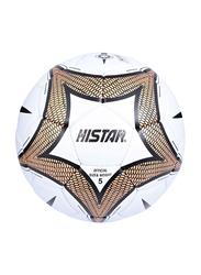 Hi-Star Cardley Football/Soccer Ball, Size 5, White/Brown