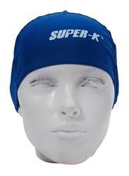 Mesuca Lycra Swimming Cap, Blue