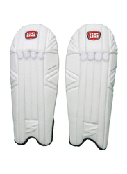 Sareen Sports Cricket Player Series Wicket Keeping Leg Guards, White