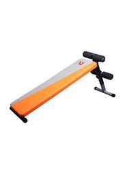 LiveUp LS1201 Fitness Sit-Up Bench, Orange/Grey