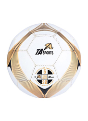 TA Sport Size-5 Football Ball, White/Gold