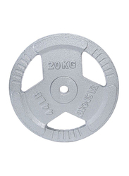 TA Sport 3 Holes Weight Plate with Handle, 20KG, Grey