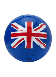 Joerex Size-5 England Flag Printed Football Ball, Blue/Red/White