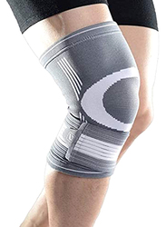 LiveUp Knee Support, Small/Medium, Grey/White