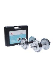 TA Sport Dumbbell Set, 54040736, 20KG, Silver