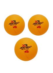 Joerex 40mm 3-Piece Table Tennis Ball, Yellow