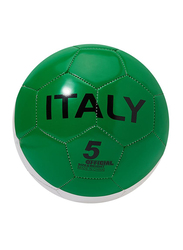 Joerex Size-5 Italy Flag Printed Football Ball, Green/White/Red