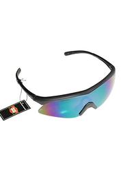 Sareen Sports Prime Polarized Half-Rim Sport Glasses for Men, Purple Lens, 21010020-101