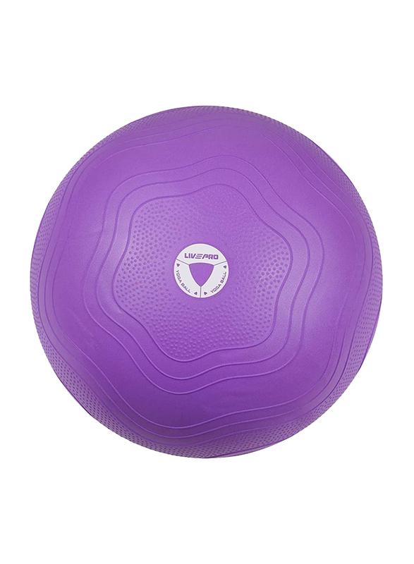 Livepro LP8201 Anti-Burst Core-Fit Exercise Ball, 55cm, Purple