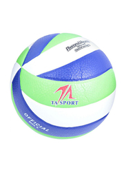 TA Sport Cellular Sports Volleyball, Size 5, Green/White/Blue