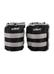Liveup Sports Ankle Weight Lifting, 2 x 3KG, Black/Grey