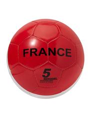 Joerex Size-5 France Flag Printed Football, Blue/White/Red