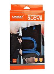 LiveUp Training Gloves, Small/Medium, Black/Blue